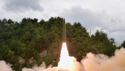 朝鮮發射機動導彈 成功擊中目標