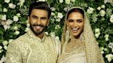 Deepika Padukone, Ranveer Singh reception: Couple dazzles in matching gold and white outfits