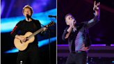 Ed Sheeran Joins Coldplay For 'Music Of The Spheres' Album Release Party   iHeartRadio