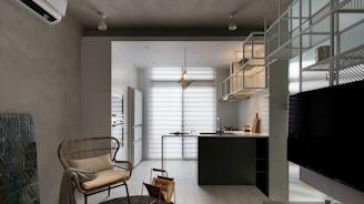 揉合機能與美學 構畫純淨13坪小宅