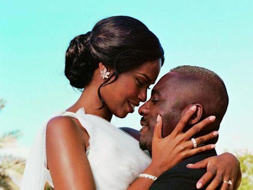 Idris Elba and Sabrina Dhowre share unseen wedding photos in new shoot