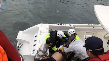 舒力基颱風帶來長浪 烏石港1字堤2釣客被打落海