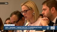 Senator Sinema target by conservatives ahead of infrastructure vote