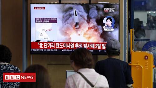North Korea fires two more 'short-range missiles'