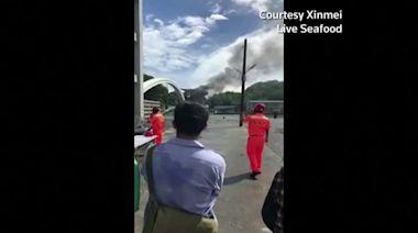 Bridge collapses in Taiwan, crushing boats