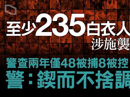 【調查報道】7.21 影像分析:至少 235 白衣人涉施襲或持武器 兩年僅 48 被捕 8 被控 | 調查報道 | 立場新聞