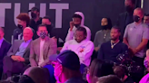 Kawhi Leonard looks like he'd rather be anywhere but this arena groundbreaking ceremony