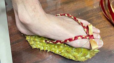 疫情間想亂跑?網友自製「榴槤鞋」 秒成天堂路隨身版