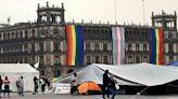 CNTE, normalistas y SME fortalecen plantón en el Zócalo