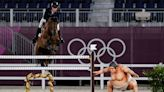 Sumo scare? Riders say horses might be spooked by statue