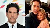 David Schwimmer shares photo cuddling Jennifer Aniston on set of Friends reunion after near-romance revelation