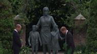 黛安娜王妃60歲冥誕! 威廉、哈利同台為雕像揭幕