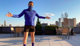 This Guy Just Ran the Boston Marathon by Doing 1,000 Laps on His Roof