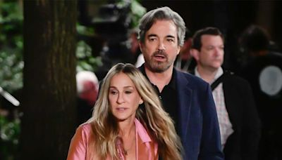 Sarah Jessica Parker Kisses Jon Tenney on 'Sex and the City' Reboot Set, Has Fans Asking About Mr. Big