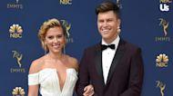 Colin Jost Blames Scarlett Johansson for 'Perfectly Framed' Guitar on 'SNL'
