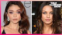 Sarah Hyland Got Mistaken For Mila Kunis On The Golden Globes Red Carpet