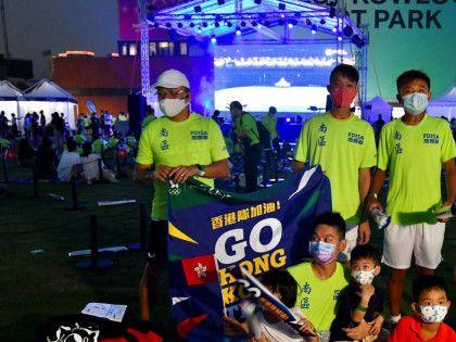 【東京奧運】西九辦「香港隊加油」 有家長帶子女到場打氣