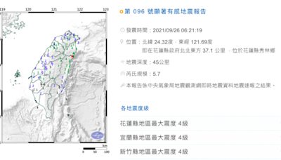 被地震搖醒警報沒響,網狂問「標準在哪」?氣象局給解答了