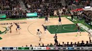 Rodney Hood with a 3-pointer vs the Minnesota Timberwolves