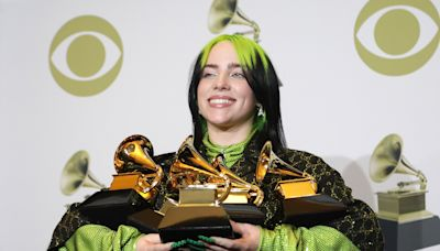 Billie Eilish makes Grammy history again, wins for 'No Time to Die' from still-unreleased James Bond film