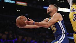 Hawks, Heat win in blowouts, Curry goes nuts
