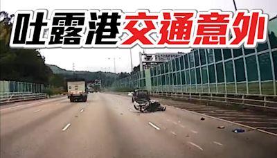 交通意外|鐵騎疑切線撞私家車 電單車司機昏迷