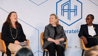 'Never give up': Hillary Clinton shares tips for being a successful female leader at London Tech Week