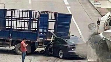 追撞貨車Tesla司機死亡 傳為韶關市公安局前副局長