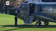 Trump returns to the White House from Camp David