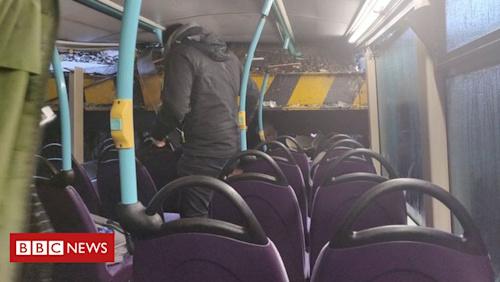 Seven injured as uni bus hits railway bridge