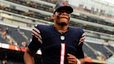 Bears' Justin Fields courtside for Sky at WNBA Finals