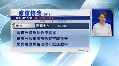 【大行報告】中金:京東物流提升市佔率空間大