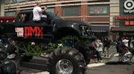 DMX memorial service: Monster truck leads procession of motorcycles