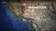5.8 magnitude earthquake shakes California