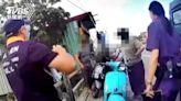 還是得開單!男騎車 口罩「繩子斷掉飛走」警當場送一個│TVBS新聞網