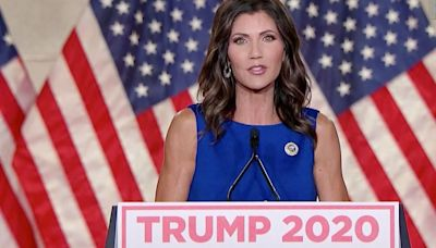 Gov. Kristi Noem of South Dakota targeting barbs at fellow Republicans viewed as mulling 2024 presidential bids