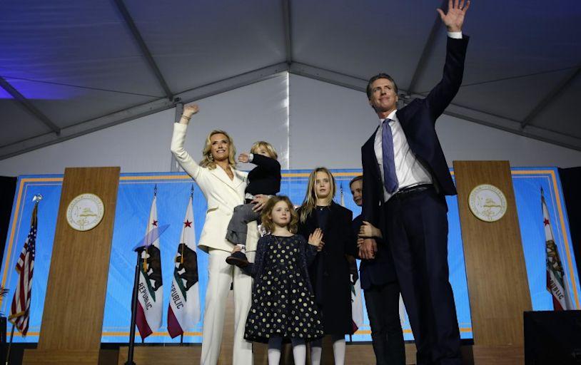 Two of Gavin Newsom's children test positive for coronavirus; the governor has not