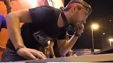 The DJ providing a beat for Lebanon's protests