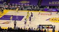 Cameron Payne with an assist vs the Los Angeles Lakers