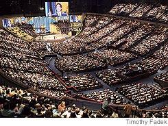 large church congregation