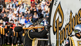 Purdue's All-American Marching Band to be without big bass drum at Notre Dame