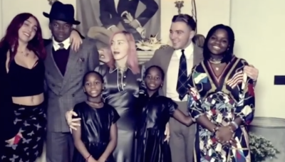 Madonna pictured with all six of her children in rare post