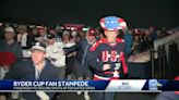 Stampede of fans make dash to 1st hole for opening of 43rd Ryder Cup