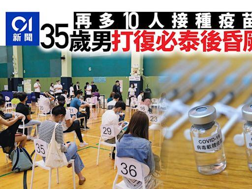 新冠疫苗|累計63萬市民打第一針 44歲女接種後呼吸急促留院