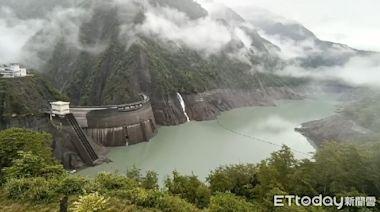 德基水庫持續下雨進帳177萬噸 蓄水率達58.54%