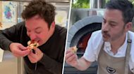 Jimmy Fallon and Jimmy Kimmel are vying in pizza-making for a good cause