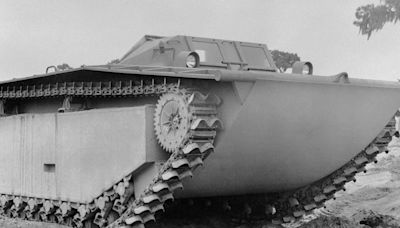 Huge US amphibious tank craft from World War II discovered buried 30 feet underground in an English field