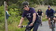 President Biden bikes for first lady's bday