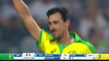 Starc clean bowls De Kock to put Australia on top