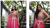 Amyra Dastur in 1.4 lakh rose-pink lehenga is festive season glam at its best. See stunning pics